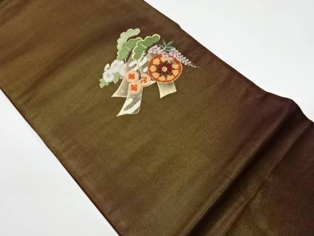 茶道具 茶道 世界の人気ブランド 着物 蘇州刺繍御所車に鬘帯 美品 花模様袋帯 中古 リサイクル 宗sou 着