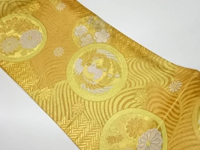 茶道具 茶道 着物 永遠の定番 丸紋有職文織出し袋帯 宗sou 着 中古 リサイクル 期間限定で特別価格