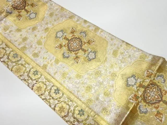 茶道具 茶道 着物 華紋に花模様織出し袋帯 リサイクル 宗sou 着 ご注文で当日配送 中古 人気急上昇