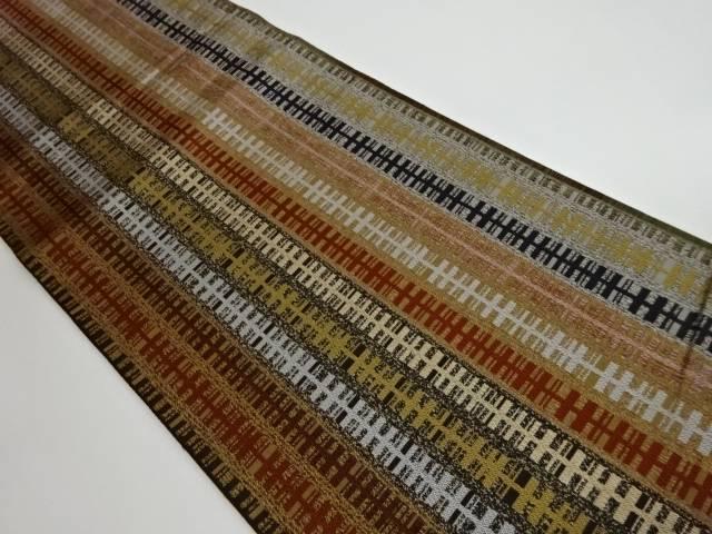 茶道具 茶道 着物 抽象模様織出しリバーシブル全通袋帯 宗sou 中古 着 リサイクル お気にいる 購入