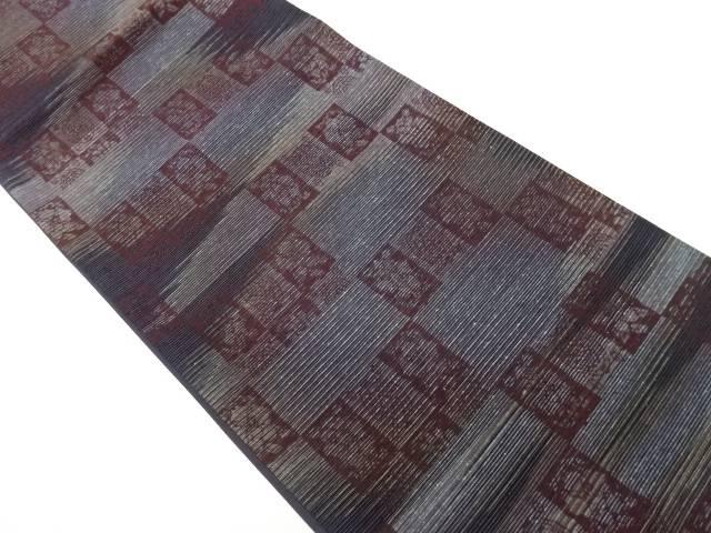 茶道具 百貨店 茶道 着物 佐々木染織製 抽象模様織出し袋帯 中古 お中元 リサイクル 宗sou 着
