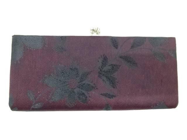 茶道具 茶道 着物 草花模様織出し和装バッグ 宗sou 中古 定番 着 アンティーク 大決算セール
