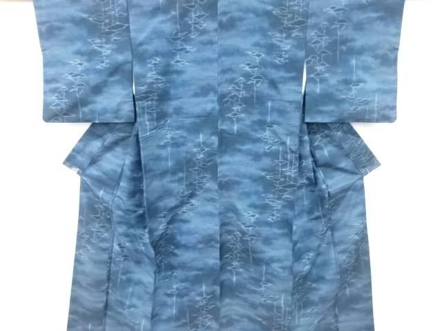 茶道具 スーパーセール期間限定 茶道 着物 樹木模様織出し手織り節紬着物 リサイクル 新品未使用 宗sou 中古 着