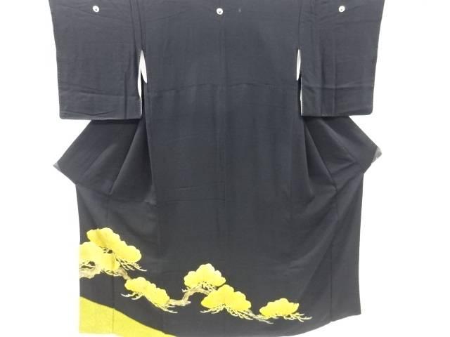 茶道具 即日出荷 茶道 着物 松模様刺繍留袖 比翼付き アンティーク 開催中 中古 着 宗sou