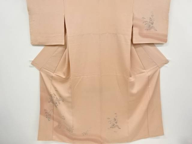 茶道具 バーゲンセール 茶道 着物 網干に菊松模様刺繍着物 宗sou 中古 アンティーク 着 即日出荷