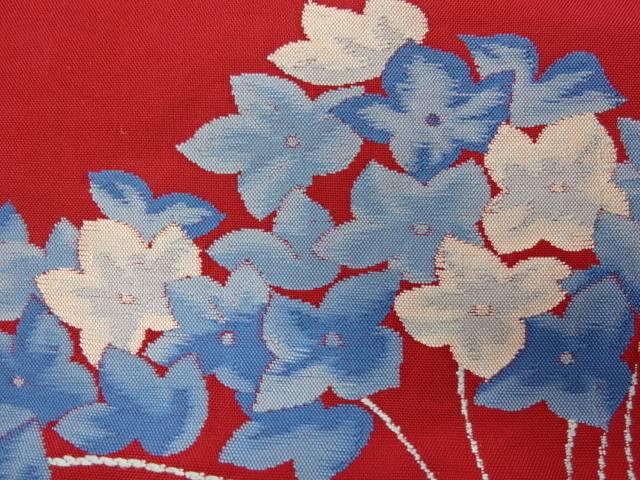茶道具 茶道 売れ筋ランキング 着物 花模様織り出し名古屋帯 中古 着 宗sou アンティーク 店舗