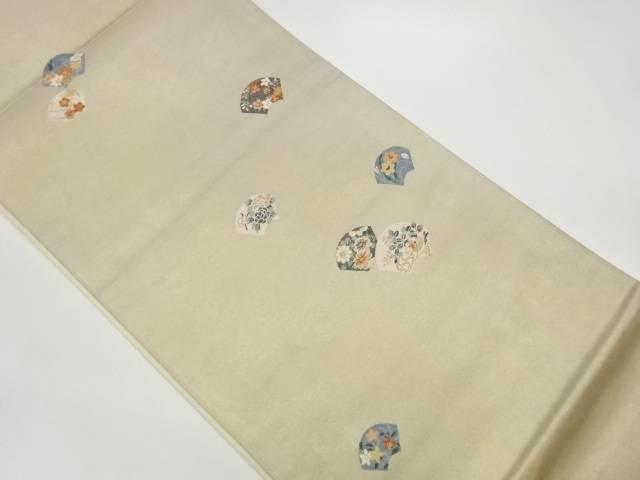 茶道具 茶道 着物 地紙に花々 鴛鴦模様織出し袋帯 中古 着 リサイクル 宗sou 訳あり品送料無料 高品質新品