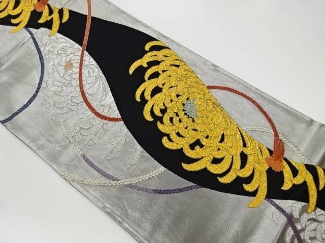 茶道具 新品■送料無料■ 茶道 着物 ファクトリーアウトレット 引箔組紐乱菊模様織出し袋帯 リサイクル 宗sou 着 中古