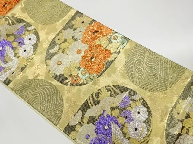 茶道具 茶道 着物 数量は多 鳳凰に花々 波模様織出し袋帯 優先配送 着 中古 リサイクル 宗sou