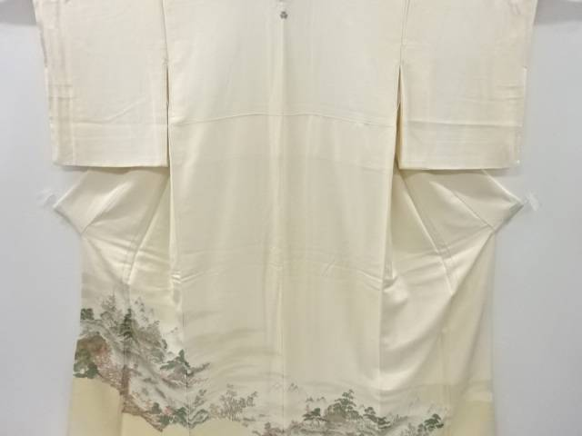 茶道具 お気にいる 茶道 着物 寿光織 寺塔風景模様織り出し一つ紋色留袖 4年保証 中古 比翼付き 宗sou リサイクル 着