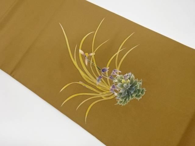 茶道具 メーカー公式ショップ 茶道 着物 春の新作 草花模様袋帯 中古 リサイクル 宗sou 着