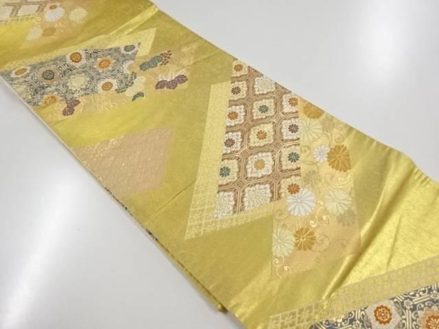 茶道具 オーバーのアイテム取扱☆ 茶道 着物 桐 [並行輸入品] 菊に古典柄織り出し袋帯 着 中古 宗sou リサイクル
