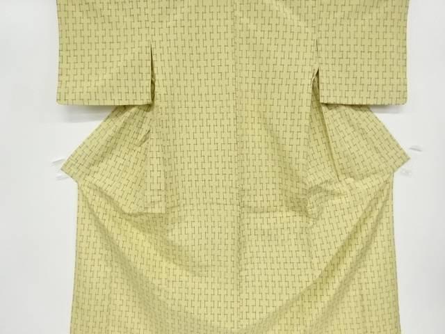 茶道具 茶道 着物 抽象模様織出手織り真綿紬単衣着物 リサイクル 爆買いセール 宗sou 大幅にプライスダウン 着 中古