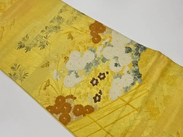 茶道具 茶道 着物 贈与 秋草模様織出し袋帯 リサイクル 中古 宗sou 着 70%OFFアウトレット