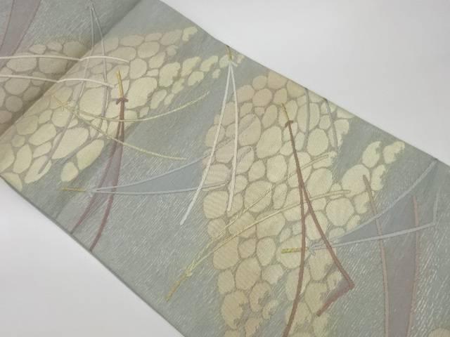 茶道具 茶道 オリジナル 着物 絽松葉模様織出し袋帯 気質アップ 着 宗sou リサイクル 中古