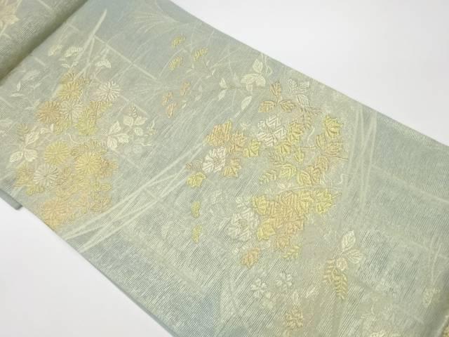 茶道具 茶道 着物 絽草花模様織出し袋帯 着 中古 リサイクル 新入荷 流行 宗sou ストア