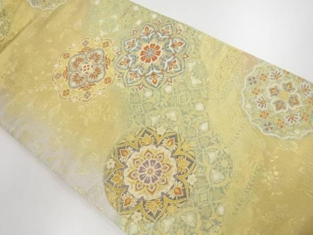 茶道具 公式 新作販売 茶道 着物 華紋に花更紗模様織り出し袋帯 宗sou 着 中古 リサイクル
