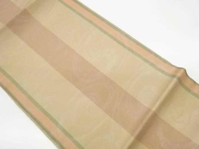 茶道具 茶道 着物 紗 日本製 縞に流水模様織出し名古屋帯 宗sou リサイクル 中古 着 新作