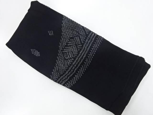 【茶道具・茶道・着物】 正絹 絞り抽象模様男物兵児帯【リサイクル】【中古】【着】 宗sou