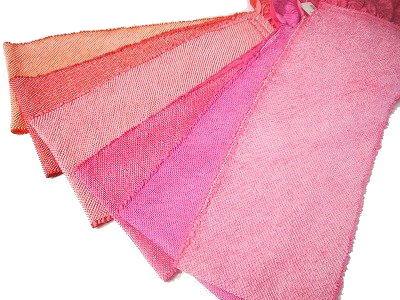振袖 販売実績No.1 訪問着に大変人気の総絞り帯揚げです 訪問着用 総絞り帯揚げ 四つ巻き 訳あり 赤 ピンク系メール便なら無料