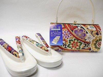 草履バッグセット 振袖・訪問着など用「彩小径」 振袖・訪問着用 日本製 LLサイズ 25.5cm no.902