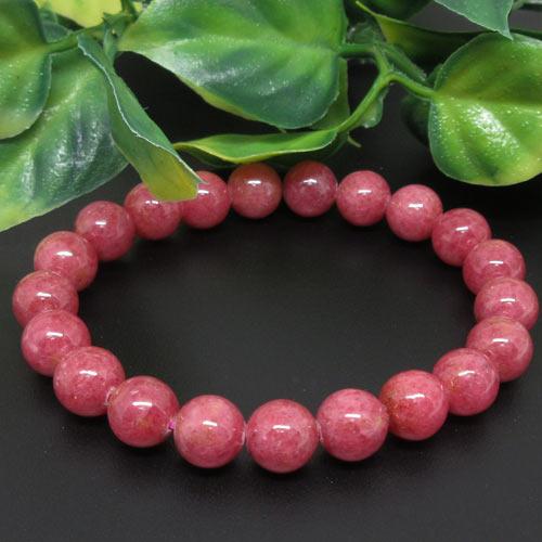 【天然石】ロードナイト(薔薇輝石)9ミリ。カナダ産