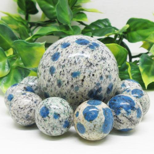 【天然石】K2ストーン丸玉&ブレスセット