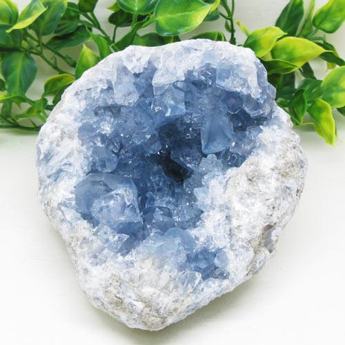 【天然石】セレスタイト1.8キログラム(天青石)休息とバランス