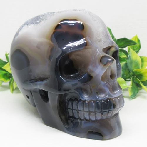 【天然石】スカル瑪瑙クラスター使用彫刻一級品約2.3キロ☆ドクロ☆骸骨☆彫り物☆彫☆彫師直送☆アーティスト☆スカル☆カービングスカル☆