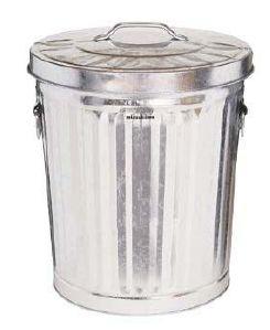 【送料無料】ブリキのゴミ箱ダストBOX33 シルバー【キャスター無し】