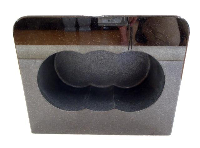 【墓石】【お墓参り】【香炉】【ステンレス香皿】【送料無料】 香炉 角型 「黒御影石」