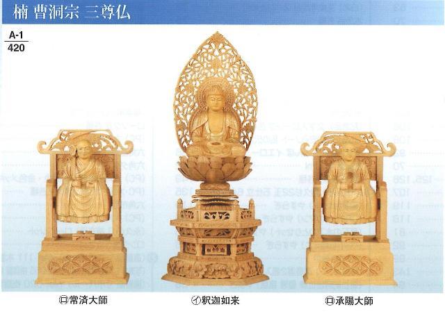 仏像 楠 曹洞宗 御本尊 六角台 金泥書 座釈迦 イ 2.5寸
