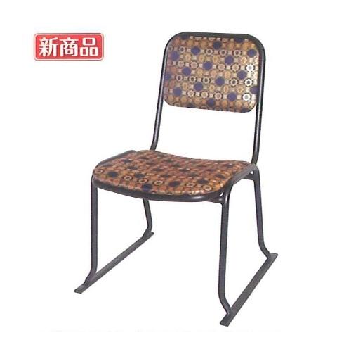 本堂用お詣り椅子 金襴(アルミ) 【送料無料】