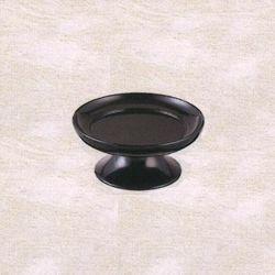 【仏具 仏壇】【仏具用品】 天目皿(黒漆塗) 4.5寸