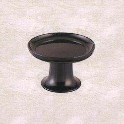 【仏具 仏壇】【仏具用品】 天目皿(黒漆塗) 5.0寸