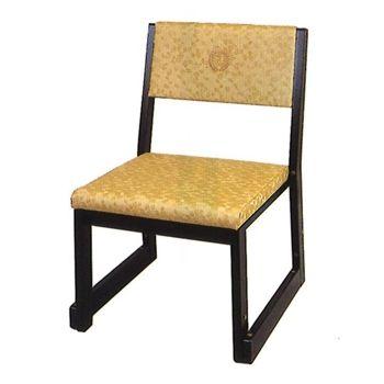 木製本堂用お詣り椅子(宗派紋入) RS-103