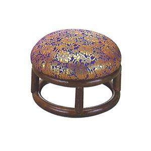 籐製金欄丸型座椅子