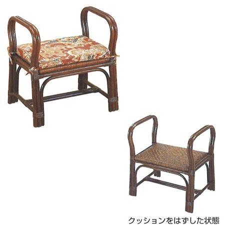 ちょこっと座椅子[ロータイプ](籐製)