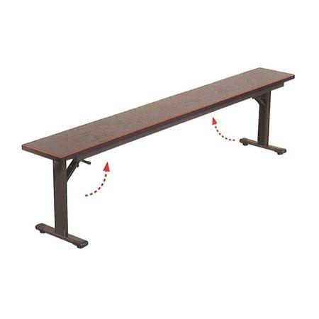 手荷物置台 (幅180cmxH45cm) 欅調 [折畳式]