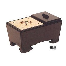 【角香炉】【お焼香】 角香炉 (黒檀・オトシ蓋付) 7寸