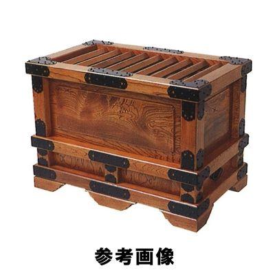 特上太柱付賽銭箱・金具付 [欅製スリ漆仕上げ] [金具付] [総ムク]  2.0尺