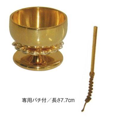 菊おリン(純金メッキ・1.8寸) 金