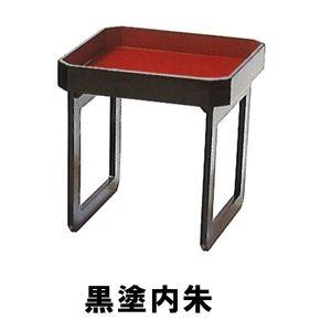 初寸膳(8寸(約24cm)) 黒塗内朱