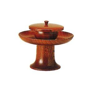 【仏具 仏壇】【仏具用品】 背高茶台(棒スリ漆) 5.5寸