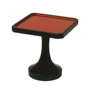 木製平安型角高杯(黒漆塗内朱) 1尺(約30cm)(呂色仕上)