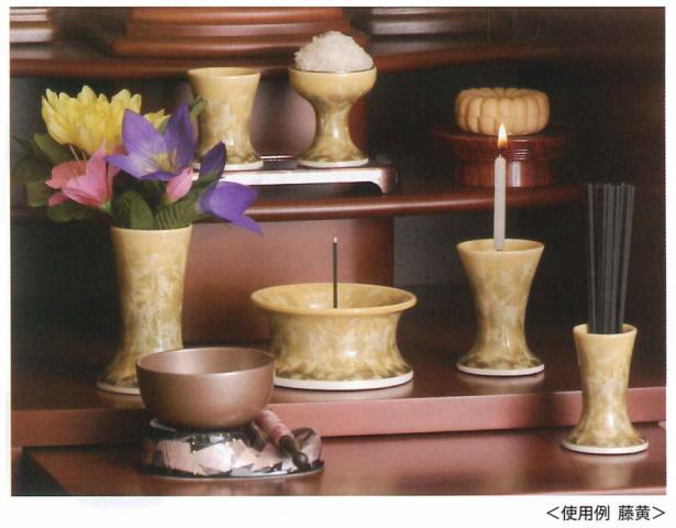 花結晶 6具足 清水焼 香炉 3.0寸 各色 【送料無料】