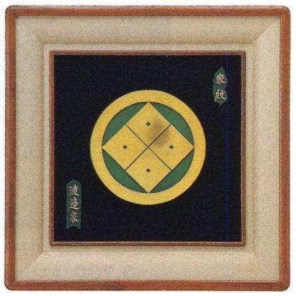 パネル 立体青銅製家紋額 [ DX額家名入 ] (小)