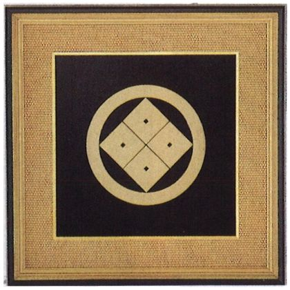 パネル 家紋額 [ 銅製 ] (12号)