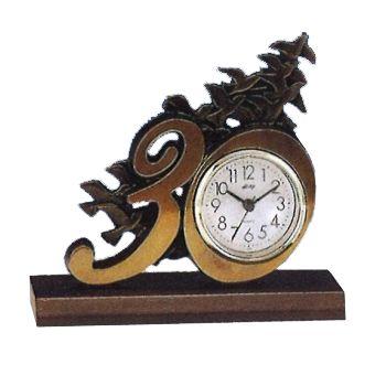 置物 オリジナル時計型デザイン時計 青銅製 飛翔(群鳩)