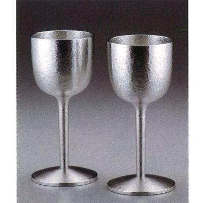 ワインカップ 2P 【 錫製・桐箱入 】